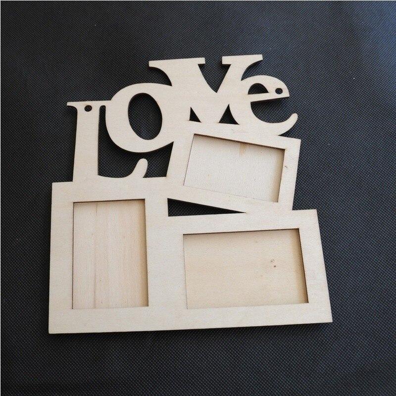1 unids hueco amor letras de madera 3 foto Marcos Rahmen blanco ...