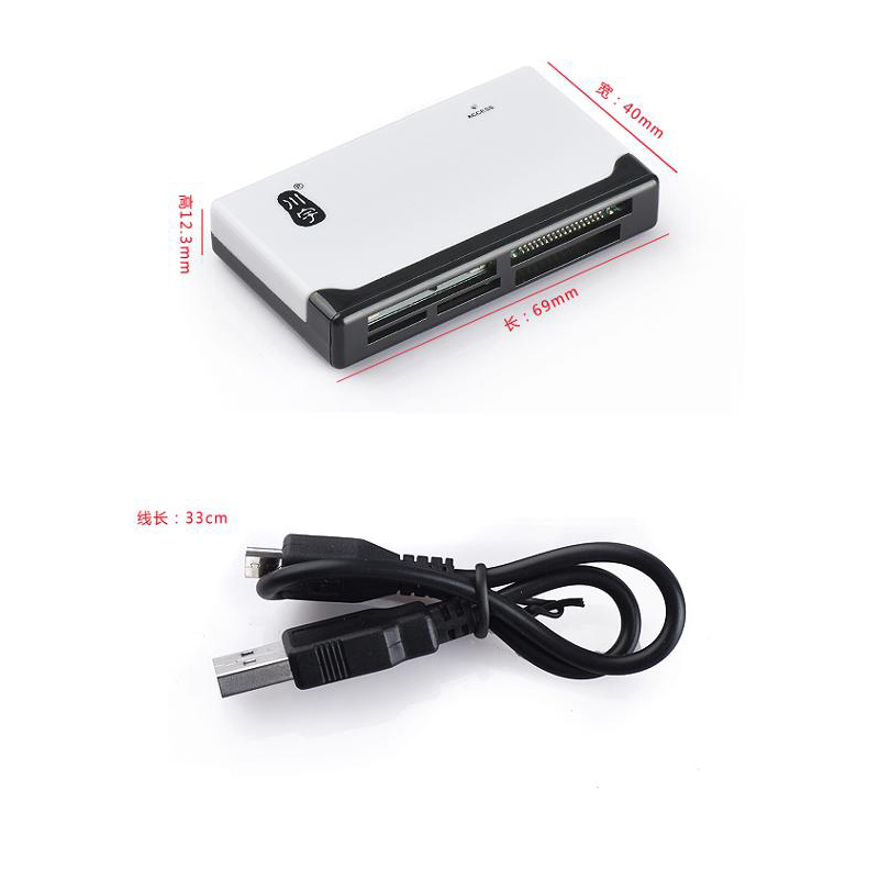 Kawau Microsd Card Reader 2.0 USB High Speed with TF SD CF MS M2 XD Card Slot C235 Support 512GB Memory Card Reader for Computer