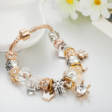 Fashion Jewelry Heart Charm Bracelets & Bangles Gold Color Chain