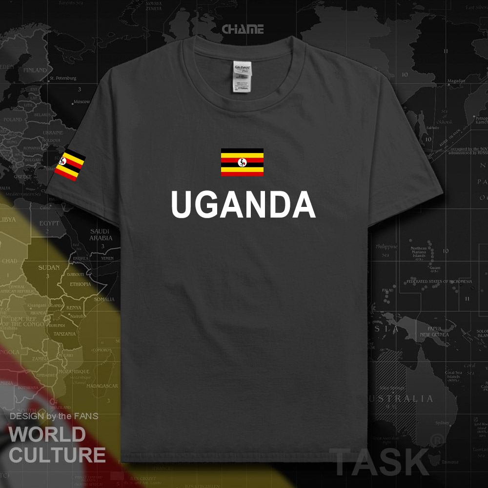 Uganda Ugandan men t shirts fashion 2017 <font><b>jerseys</b></font> team nation 100% cotton t-shirt gyms clothing tees country sporting flags <font><b>UGA</b></font> image