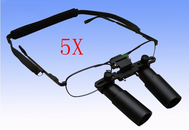 5X Preto HD Lente Óculos Dental Lupa Cirúrgica Dental Médica Lupas Kepler  Binocular Para Cirurgia ENT 0574c0712c