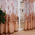 1 pcs Window Curtain Luxurious Upscale Jacquard Yarn Curtains Peony Pattern Voile Door Window Curtains Living Room Bedroom Decor