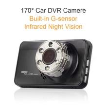 3 Pulgadas de 170 Grados del coche grabadora de vídeo G-sensor Del Coche DVR de La Cámara HD 1080 P detector de radar dvr visión nocturna cámara grabadora coche