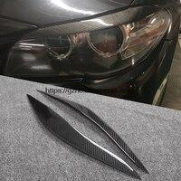 Rear Carbon Fiber Headlights Eyebrows Eyelids For BMW F10 5 Series Car Styling Front Headlamp Eyebrows