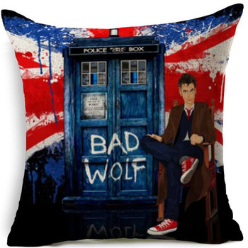 11th Doctor Bad Wolf Tardis Doctor Who Throw Pillow  3