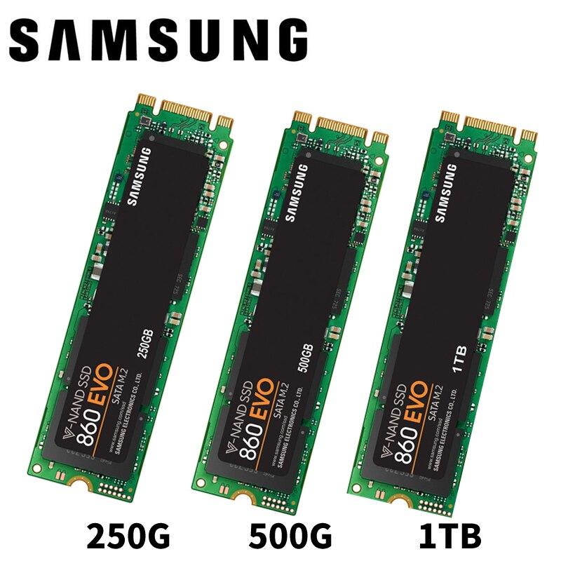 SAMSUNG 860EVO 860 EVO M.2 SATAIII 250GB 500GB 1TB 250G 500G M.2 Internal Solid State Drives SSD 6Gb/s SATA цена