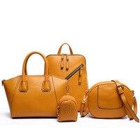 2017 Luxury Women Bag set Lady Handbag shoulder Bag 4pcs/set