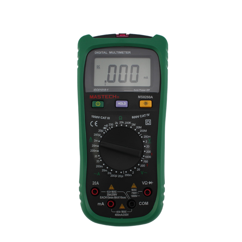 Mastech MS8260A Multimeter Digital Professional DMM LCR Meter Detector Volt Stick Tester Electrical AC/DC Ammeter Voltmeter mastech ms8217 portable digital multimeter auto ranging ac dc voltage dmm rel frequency