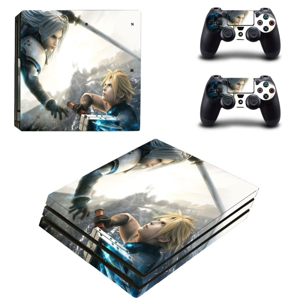 Final Fantasy PS4 Pro Sticker Vinyl Decal Controller & Console Skin for Sony Playstation 4 PRO Stickers