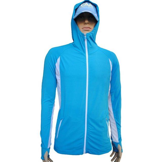 Seda del hielo pesca traje sueltas hombres verano al aire libre ropa al aire libre abrigo de manga larga con capucha