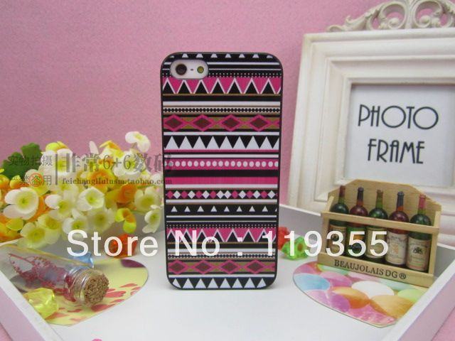 10pcs/lot New Aztec Tribal Tribe Pattern Retro Vintage hard back case cover skin for iphone5 5th 5G free shipping