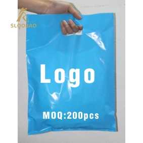 500 pcs custom logo shopping handle plastic bag/gift plastic packaging bag for garment/clothing/gift printed LOGO promotion ba - DISCOUNT ITEM  6% OFF All Category