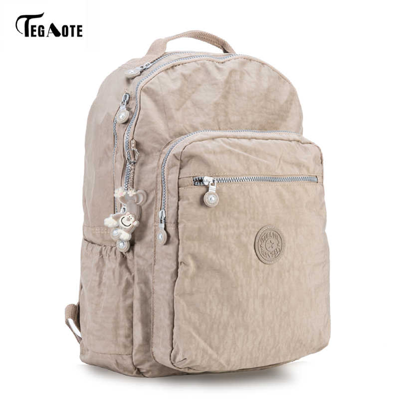 TEGAOTE Backpack Student College Waterproof Nylon Backpack Men Women Material Escolar Mochila Quality Brand Laptop Bag School