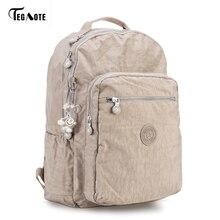Tegaote рюкзак студент Колледж Водонепроницаемый нейлоновый рюкзак Для мужчин Для женщин Материал Эсколар Mochila качество бренда сумка для ноутбука школы