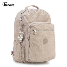 4616b726ab6a TEGAOTE Backpack Student College Waterproof Nylon Backpack Men Women  Material Escolar Mochila Quality Brand Laptop Bag School