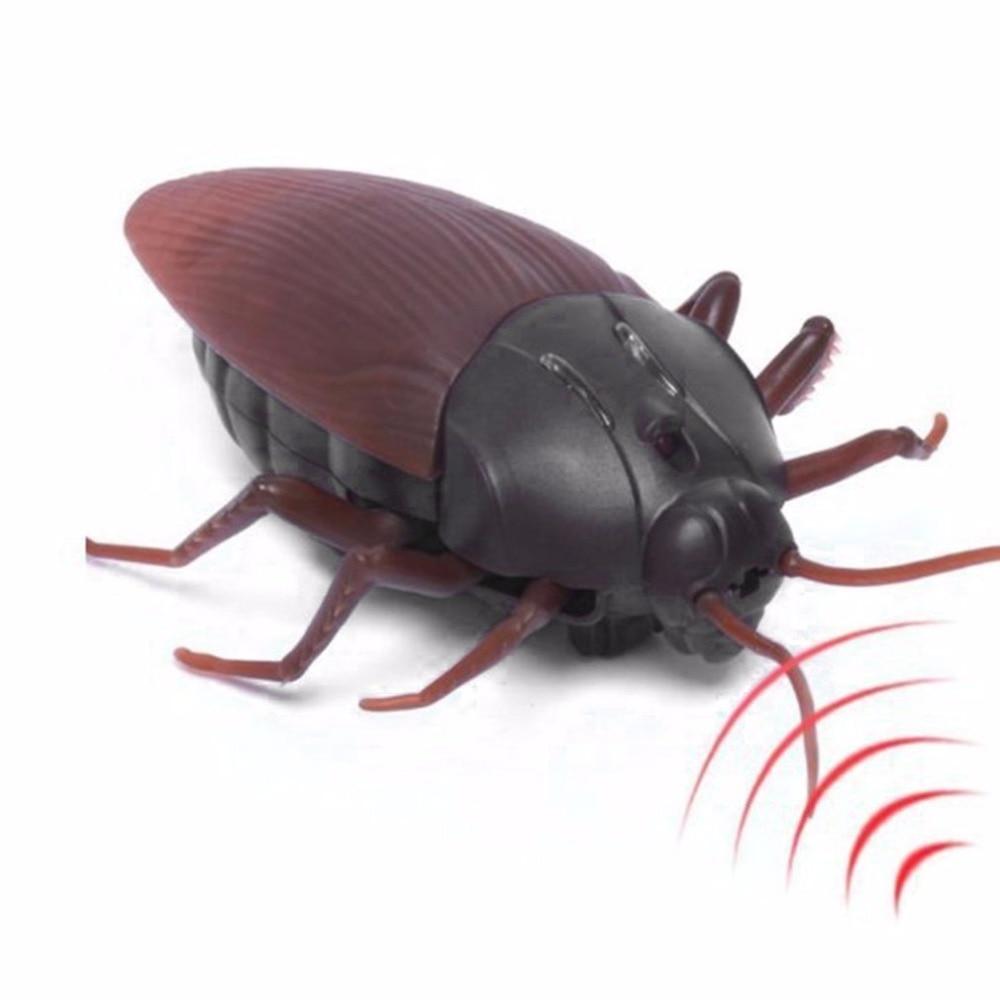 Eng Griezelig Kakkerlak Infrarood Afstandsbediening Speelgoed Aangedreven Door Batterij Anti-stress Grappige Plastic Simulatie Speelgoed Voor Kinderen