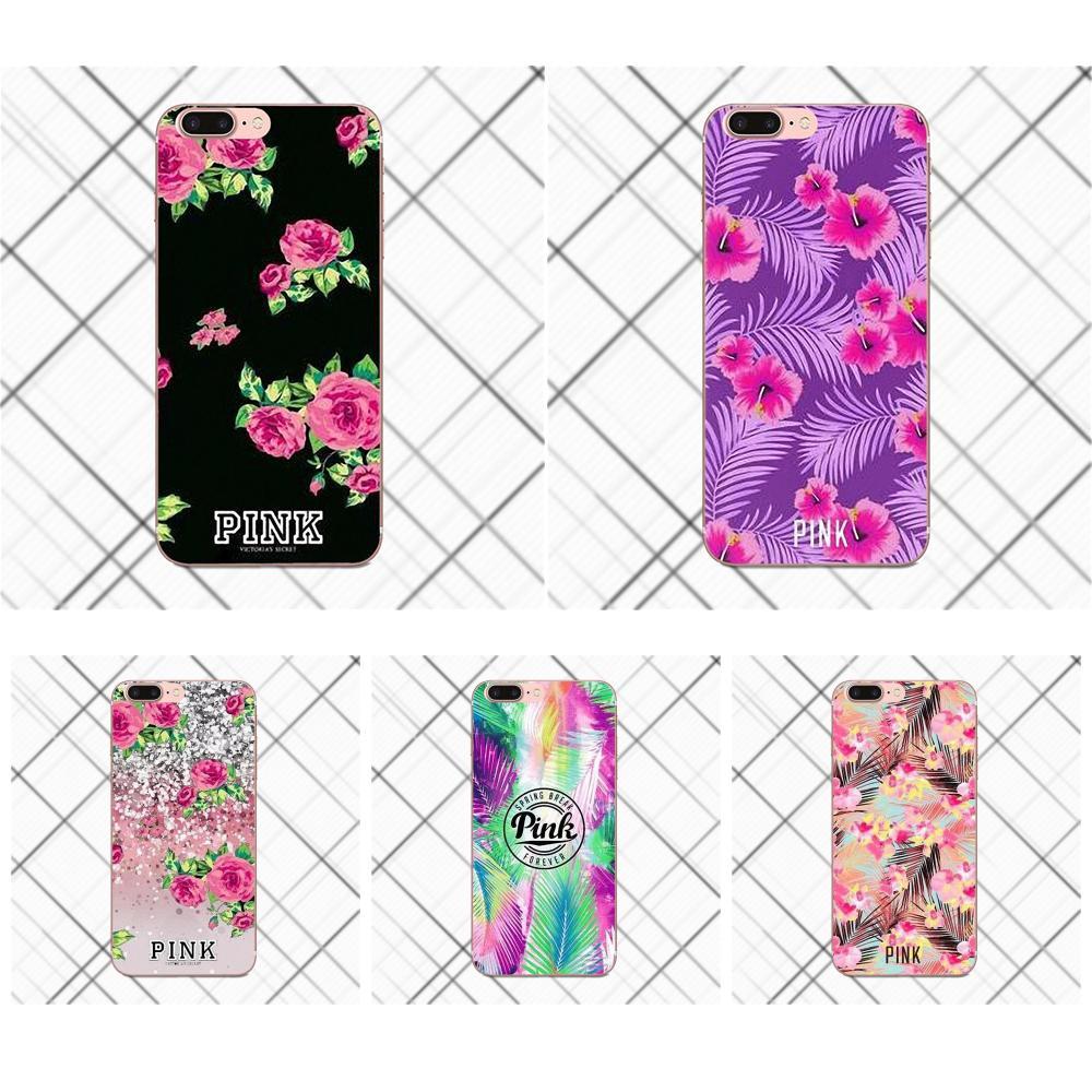 Vs Flower Pattern For LG G2 G3 mini spirit G4 G5 G6 K4 K7 K8 K10 2017 V10 V20 V30 Soft Silicone TPU Transparent Pattern Pink