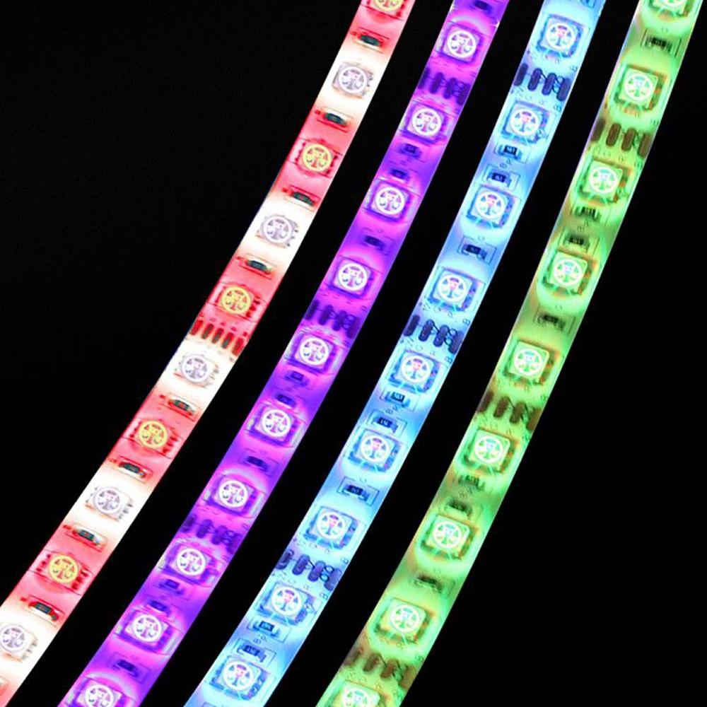 5050 Led Tape RGB Strip Light Waterproof 220V To DC 12V 5M 300 Led Stripe Flexible Strip Lights Neon Ribbon Warm White/Blue/RGBW