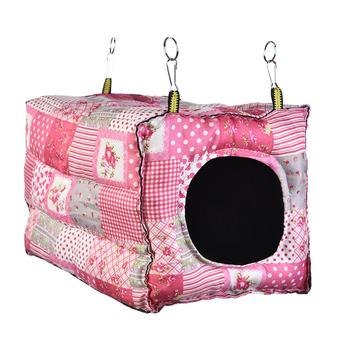 Hook Design Small Pets Cube Cotton Hamster House Cage For Small Animals Squirrel Guinea Pig Chinchilla Rabbit House Supplies 1