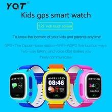 YQT Q80เด็กGPS Watchสมาร์ทหน้าจอสัมผัสSOSสถานที่ตั้งFinder L Ocatorติดตามเด็กตรวจสอบเด็กปลอดภัยนาฬิกาข้อมือป้องกัน-หายไป