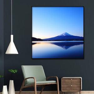 Image 2 - Cuadro de Arte de lienzo pintura al óleo moderna decoración del hogar Fuji paisaje de montaña póster e impresiones pasillo de hotel Impresión de marco de arte mural