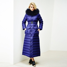2016 Winter Jacket Women down jackets large fur hooded fashion slim long thicken down coat women's outerwear parka coats