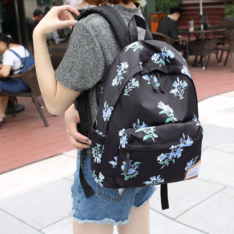 Gallery Of Great Man Er Wei Floral Printing Backpack Women Fashion Canvas  Backpack Schoolbag For Girls Bookbags Retro Travel Bag Laptop Backpacksin  ...