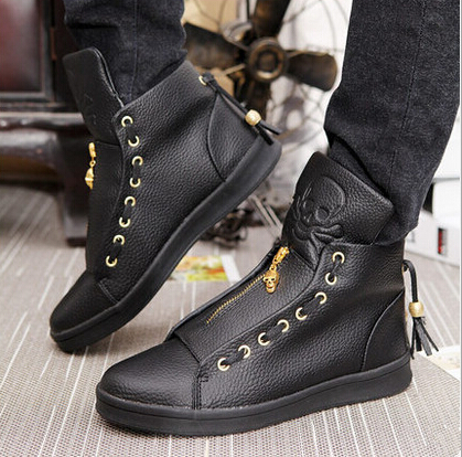 Hot Sale Latest Ver Men Shoes Leather High Top Shoe Fashion Man Hip