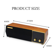 MOONSTAR Wooden Wireless Bluetooth Speaker Portable HiFi Shocking Subwoofer LCD Monitor Bluetooth Speaker FM Radio