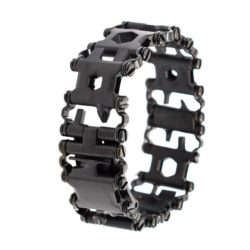 Bracelet multi-outils en acier inoxydable multi-outils portable 29 outils pour l'extérieur et les voyages