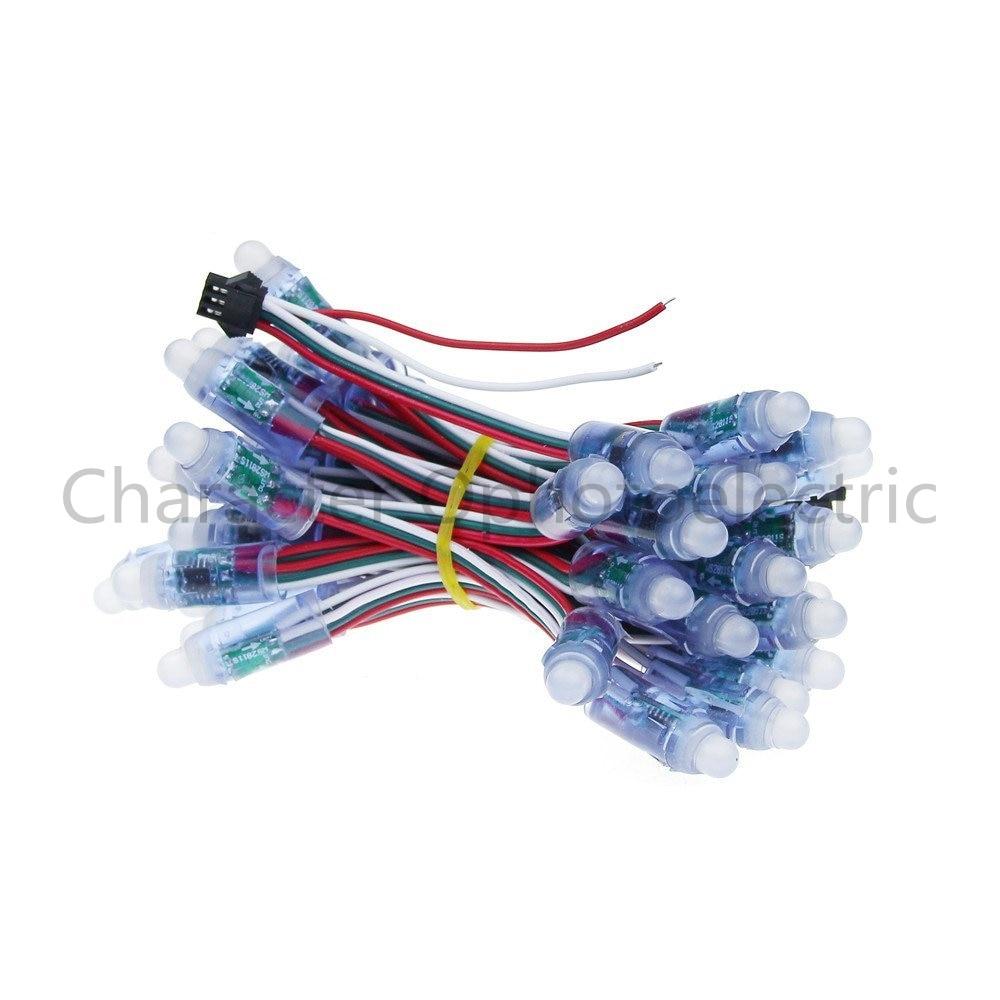 50 pcs lot 12mm WS2811 2811 IC RGB Led Module String Waterproof DC12V Digital Full Color LED Pixel Light in LED Strips from Lights Lighting