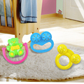 3Pcs/set Baby Appease Sleeping Rattles for 6-12 Months Toys Newborn Babies Puzzle Infant Toddlers Children Funny Hand Rattle Toy