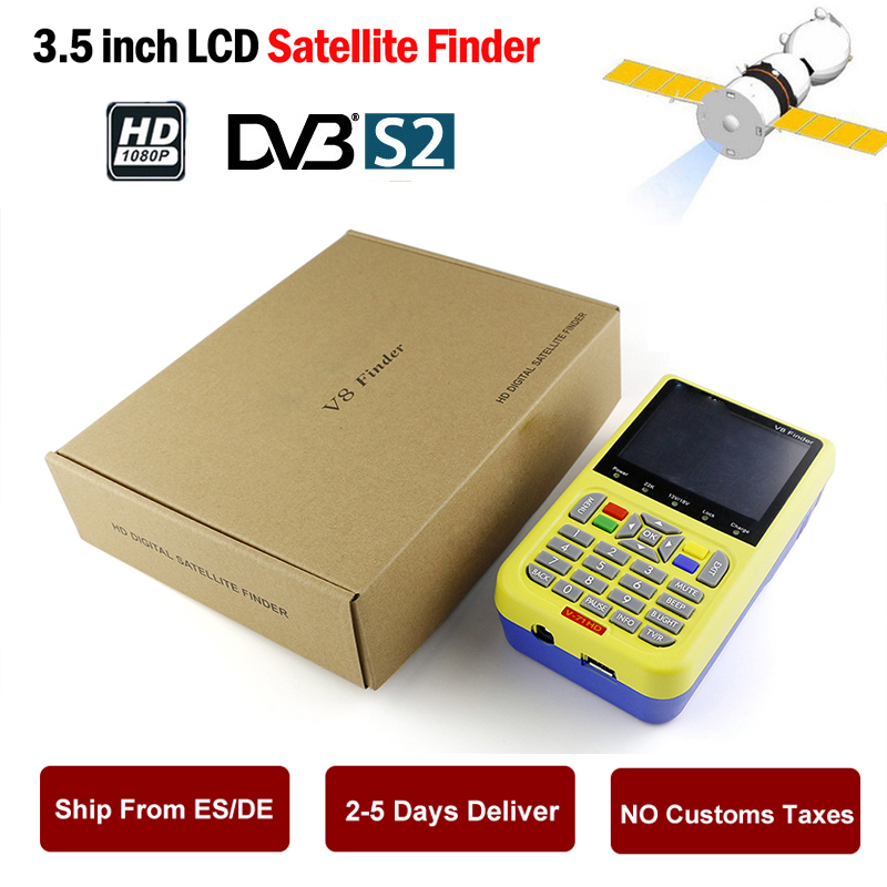 [Genuine] V8 Finder HD DVB-S2/S High Definition Satellite Finder MPEG2 MPEG4 satellite Finder Meter V-71 HD DVB S2 Free Shipping satlink ws 6979se satellite finder meter 4 3 inch display screen dvb s s2 dvb t2 mpeg4 hd combo ws6979 with big black bag