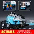 Nueva LEPIN 21006 1234 Unids camión Modelo Kits de Construcción de Juguetes de Bloques de Ladrillos para el cumpleaños del niño
