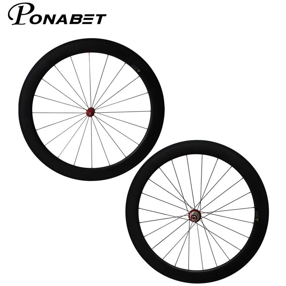 PONABET U shape Powerway R36 carbon hub 25mm width Straight pull 60mm clincher bicycle wheels from