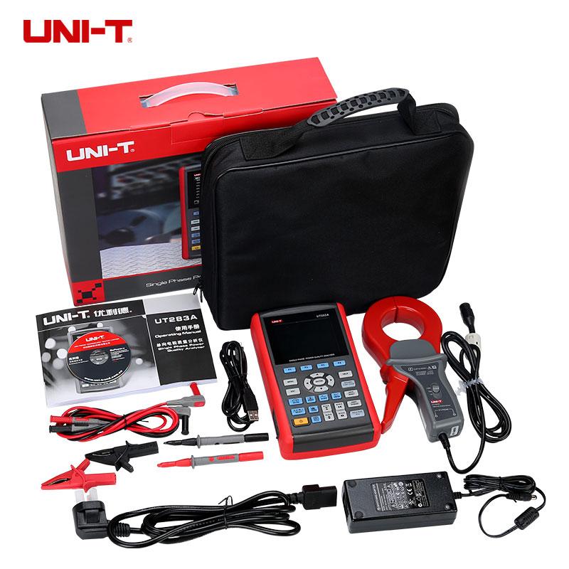 UNI-T UT283A monophasé analyseur de qualité de puissance véritable Interface USB RMS