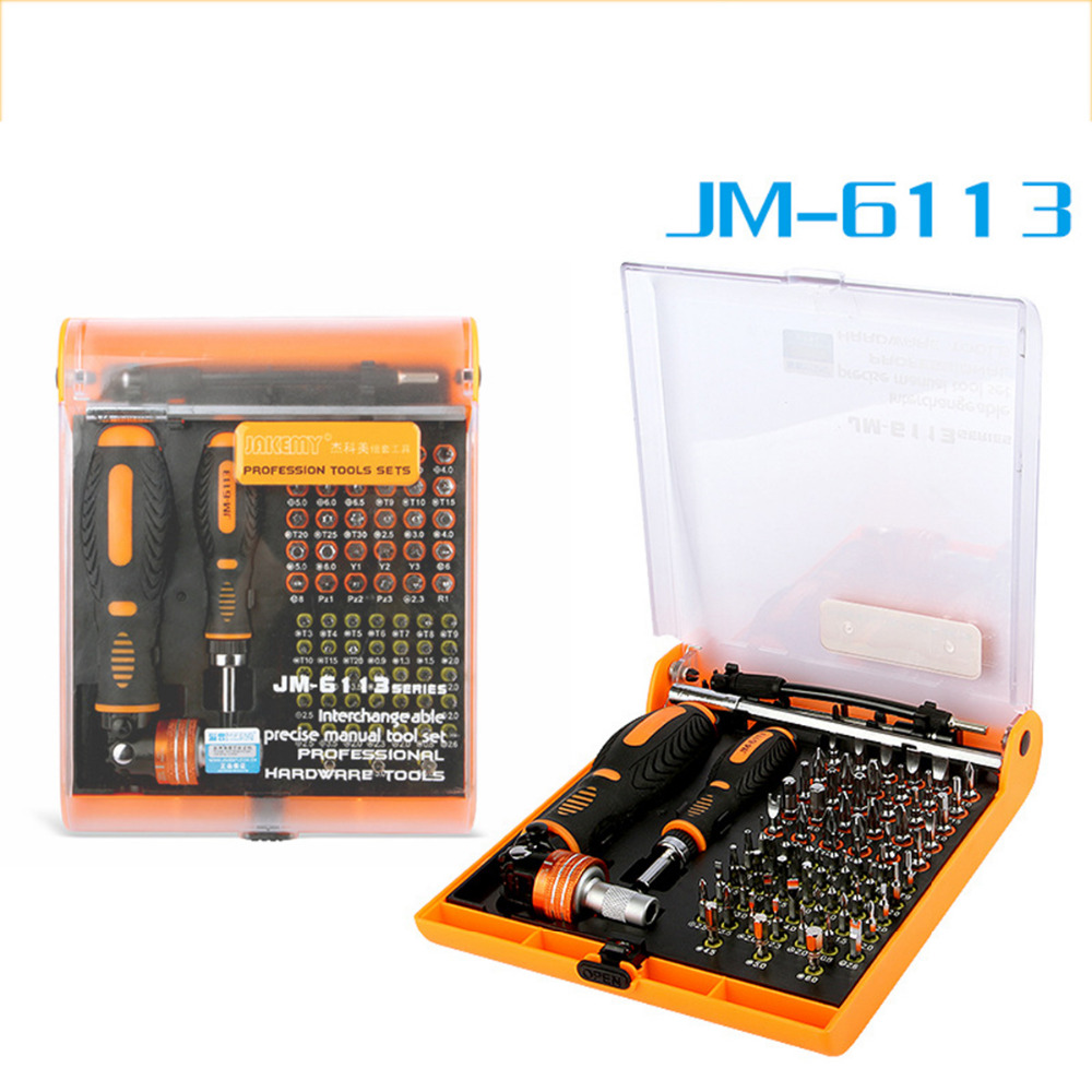 Jakemy JM-6113 multitool Household ratchet screw driver set mobile phone repair tool & Laptop & computer & Electronics tools 46pcs socket set 1 4 drive ratchet wrench spanner multifunctional combination household tool kit car repair tools set