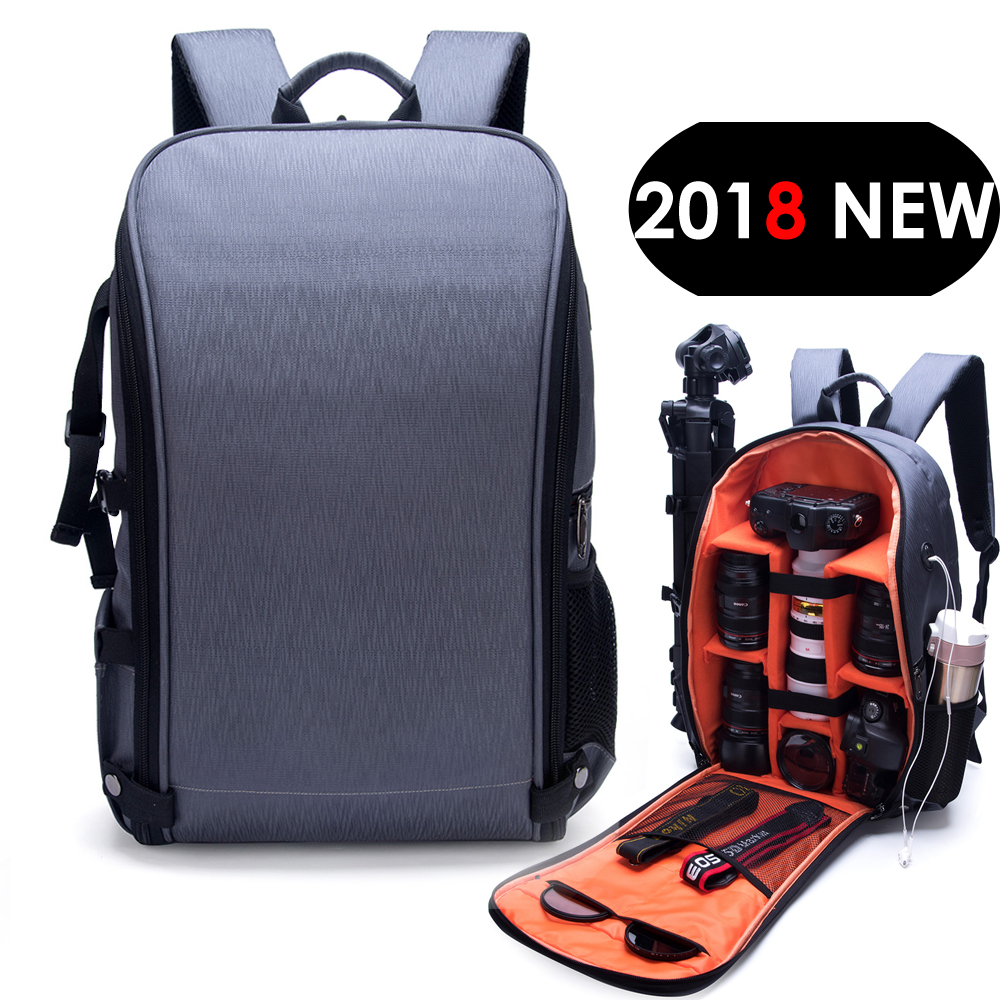 Waterproof Photo Camera Backpack Fashion Style Video DSLR Nylon Bag fit 15.6inch Laptop for Canon Nikon Sony Tripod Lens SLRWaterproof Photo Camera Backpack Fashion Style Video DSLR Nylon Bag fit 15.6inch Laptop for Canon Nikon Sony Tripod Lens SLR