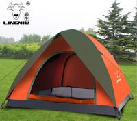 Rainproof Beach Tent Wholesale Outdoor 3 4 People Automatic Double Layer Camping Tent