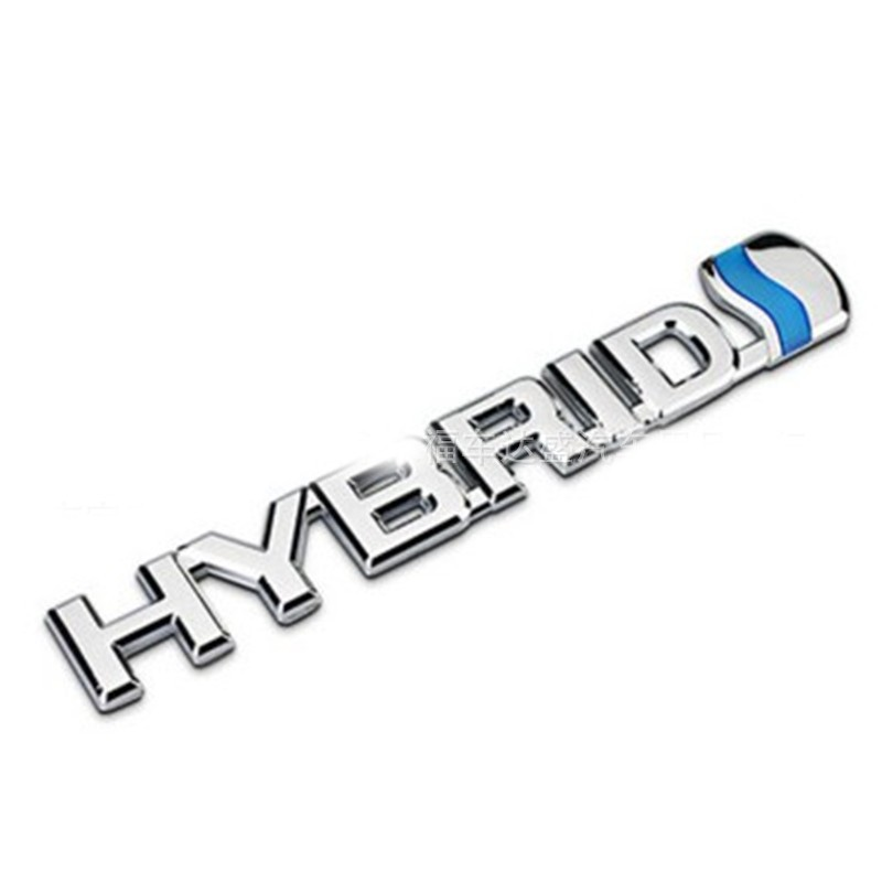 2017 NEW 3D ABS Chrome Hybrid Badge Emblem Sticker Decal for Toyota Prius Yaris Camry Car-Styling auto car chrome hybrid blue for prius emblem badge sticker