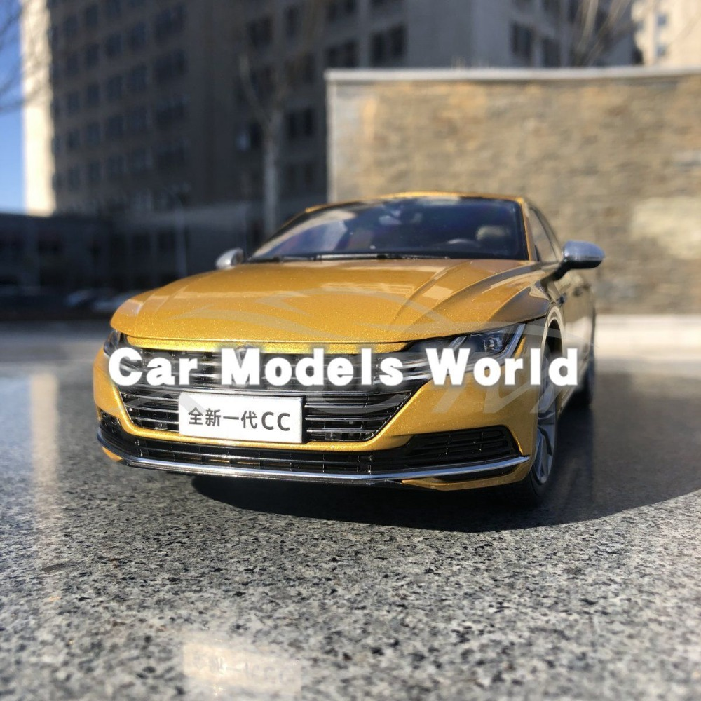 Diecast Car Model for Arteon the Next Generation CC 1 18 Gold Yellow SMALL GIFT