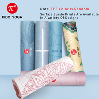 PIDO YOGA Yoga Mat 7mm Thick And Long Printed Suede + TPE Fitness Mat Gym Non-Slip Dance Mat 2