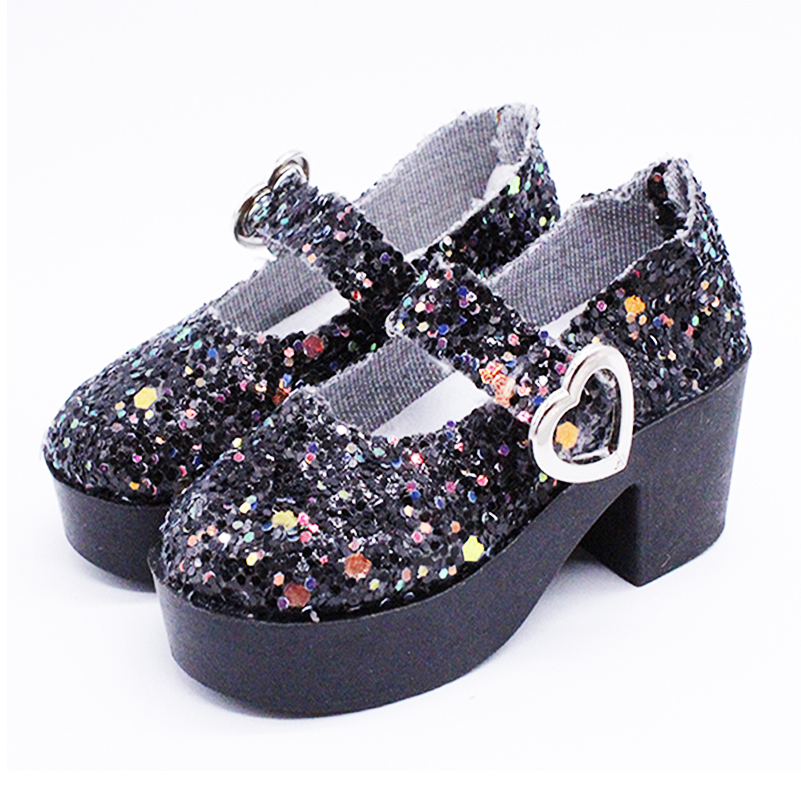 1 Pair New Flash High Heel Sandals Shoes For BJD Dolls Mini PU Shoes Accessories For 1/3 60cm Doll Toys For Girls Gifts