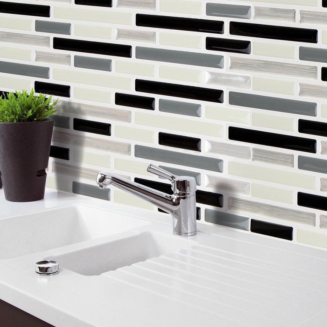 3D Brick Wall Stickers Self Adhesive Tile Wallpaper Kitchen Bathroom ...
