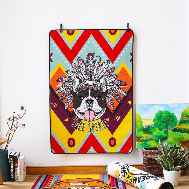 Large Size Creative Cartoon Dog carpet for Living Room Bedroom kids rug home mat non-slip 80*120 sofa tea table mat