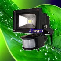 Dropship 10W New PIR Motion Sensor LED Floodlight Flood Lights Light Induction Sense Lamp 85 265V