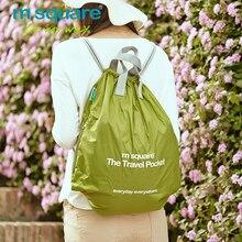 M Square Travel Foldable Lightweight Backpack Women Men Waterproof Drawstring Bag Mochila School Bags Bagpack Ultralight
