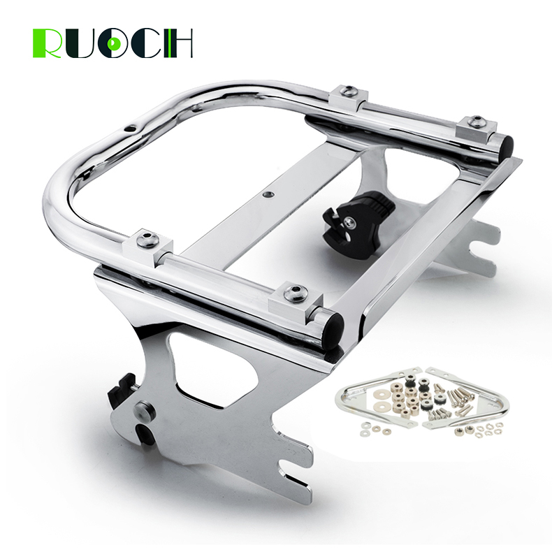 Motorcycle Detachable Rear Two Up Tour Pak Pack Luggage Rack for Harley Touring Road King FLHT FLHX FLTR 1997-2008