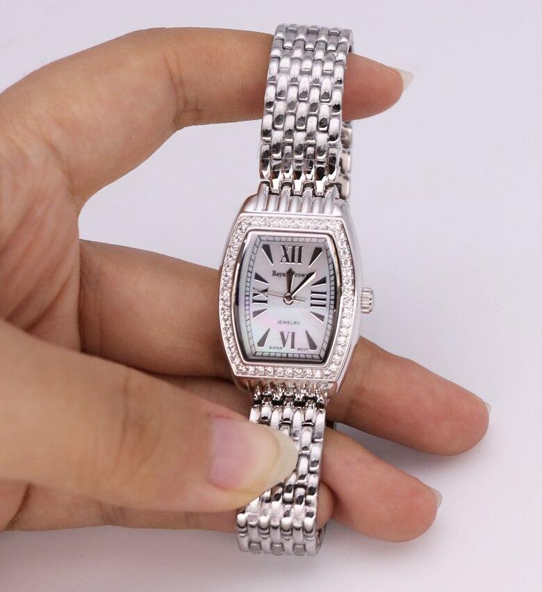 fina horas relógio pulseira de aço inoxidável