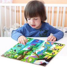 40pcs Kids Wooden puzzles toy, Animal Growth puzzle 4 Animal In-A-Box, Animal growth puzzle education puzzles cognitive toy gift цена 2017